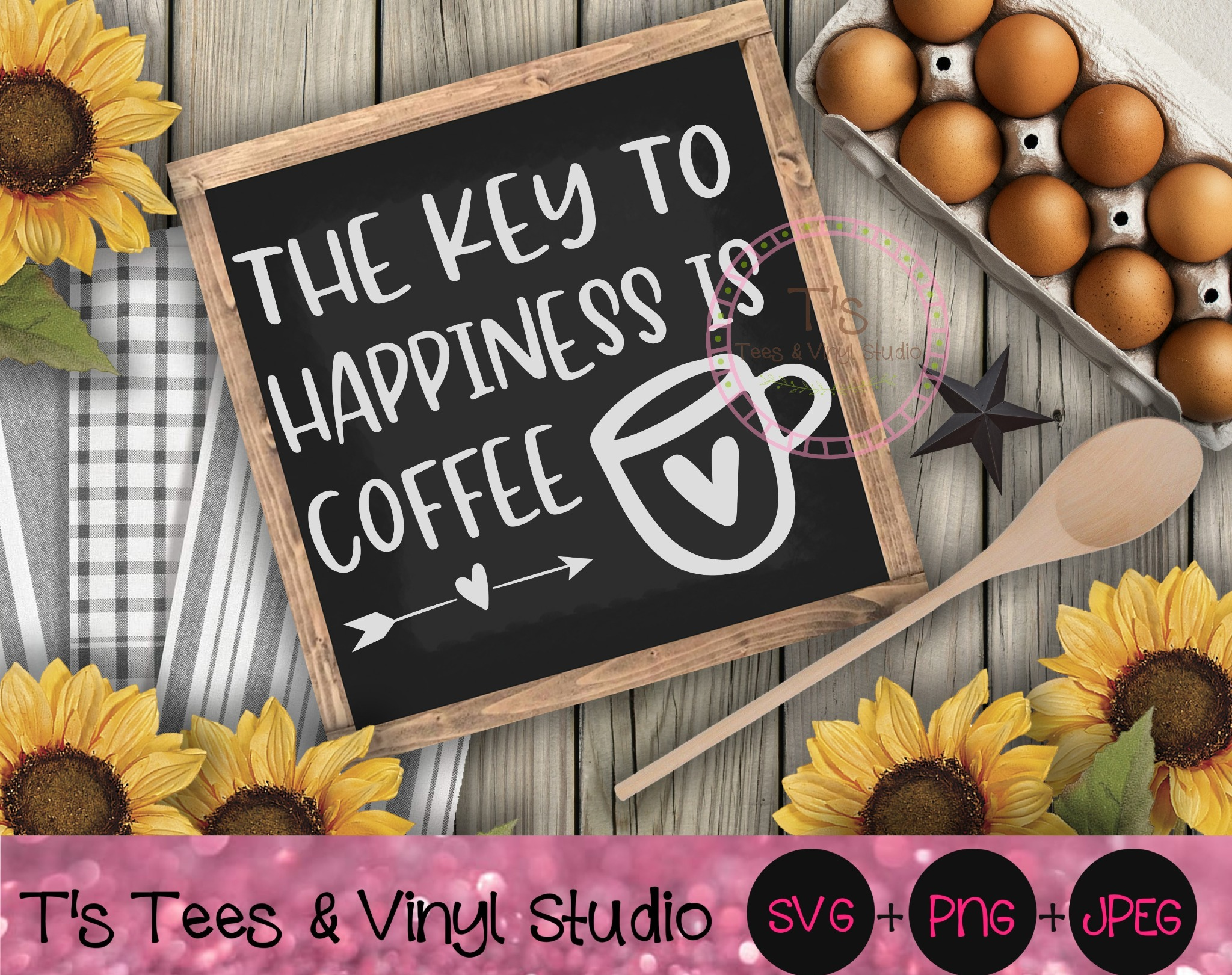 Coffee Svg, Coffee Bar, The Key To Happiness Is Coffee, Coffee Obsessed, Java Lover, Coffee Is My Fa