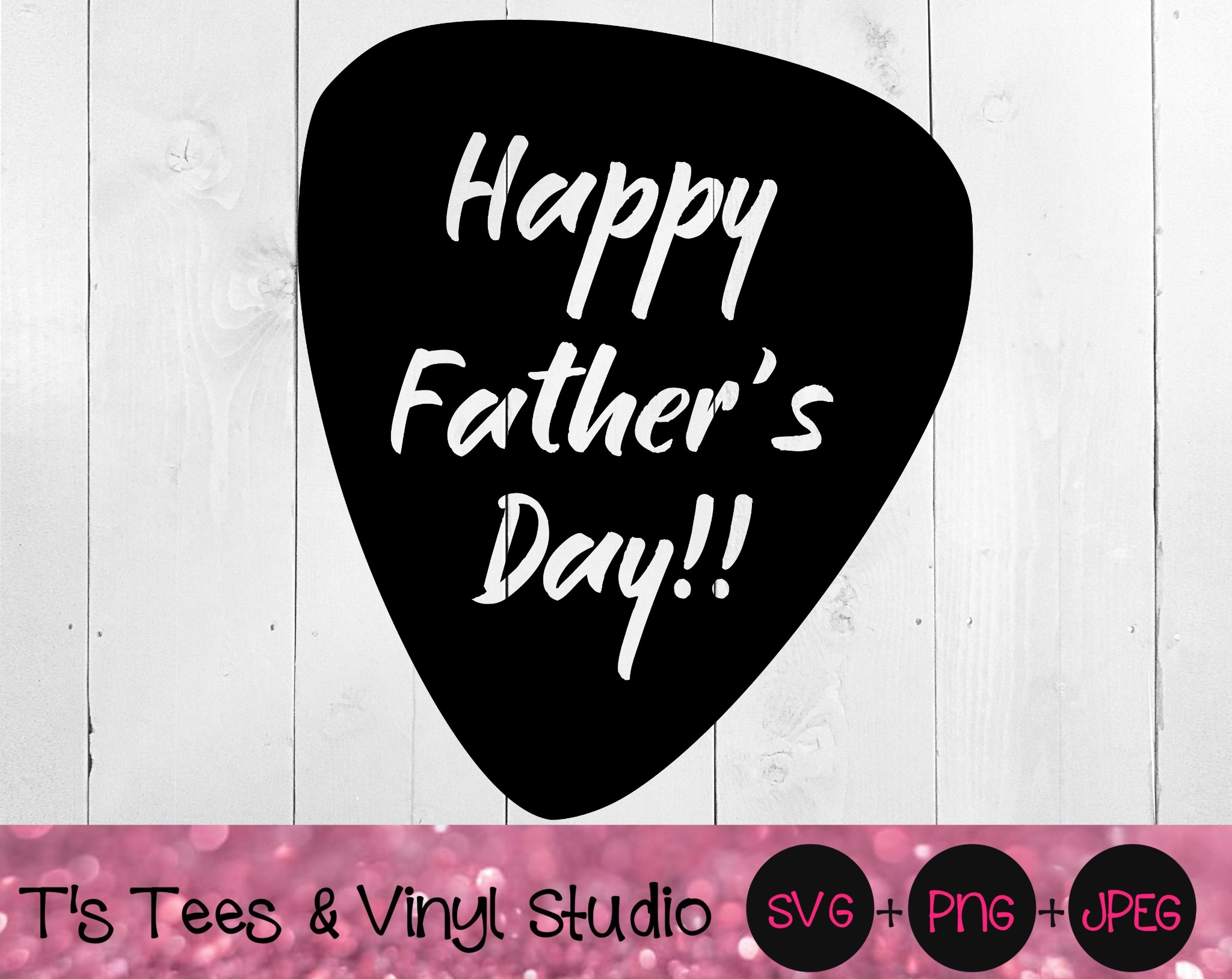 Happy Father's Day Svg, Guitar Pick Svg, Knockout Svg, Father's Day Guitar Pick Svg, Dad Svg, Father