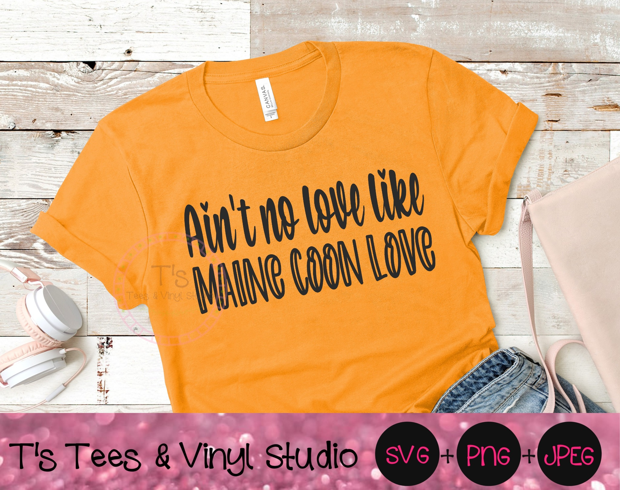 Ain't No Love Like Maine Coon Love Svg, Lover Svg, Love Svg, Cat Love Svg, Kitten Png, Love My Cat S