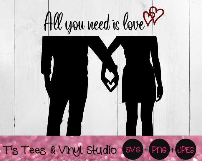 Love Svg, In Love Svg, Heart Hands Svg, All You Need Is Love Svg, Romance Svg, Romantic SVG, Lover S