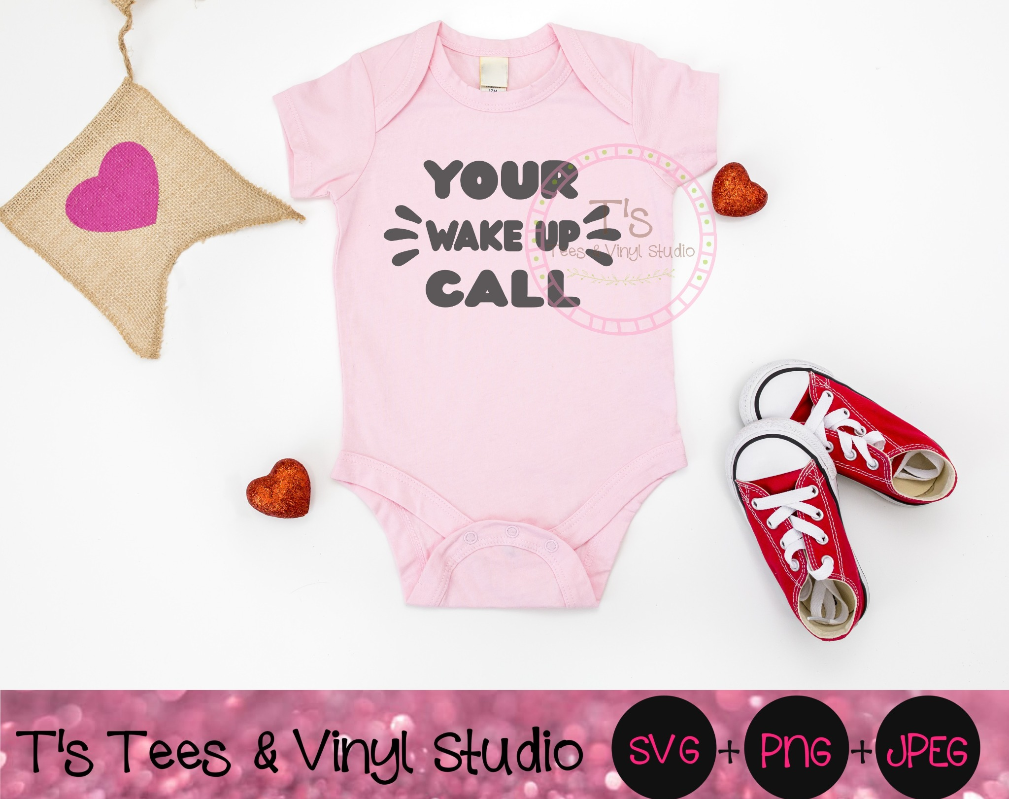 Your Wake Up Call SVG, New Baby, Newborn Alarm, Baby Alarm, New Parents, No Sleep, Baby Clothes, Bab