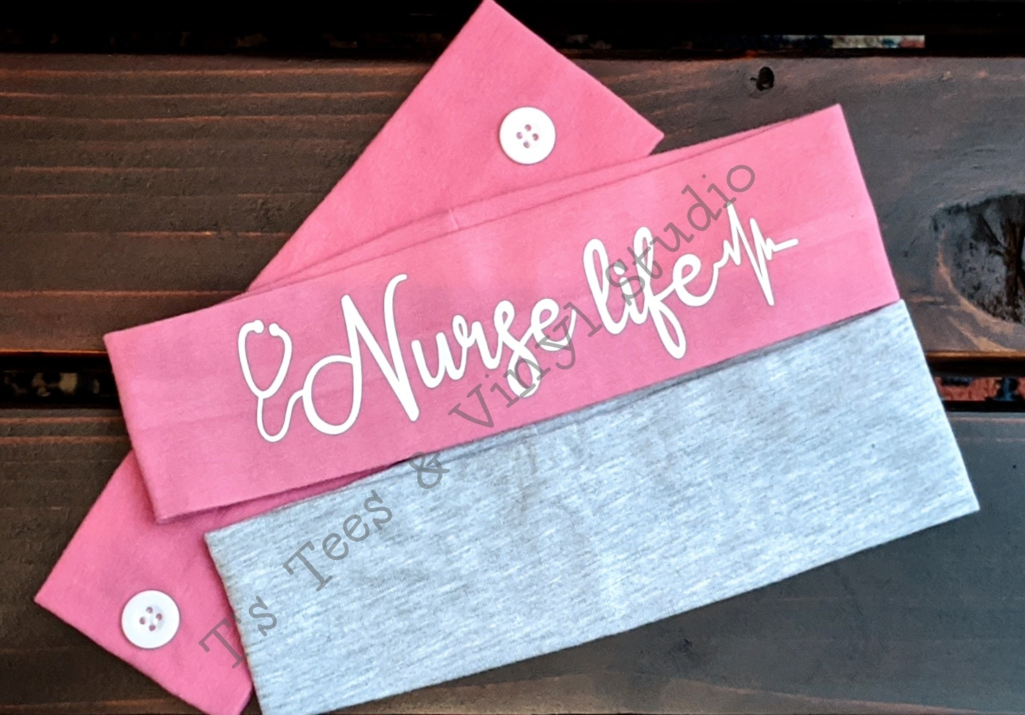 Nurse Life Headband With Buttons For Your Mask