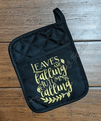 Leaves Are Falling Autumn Is Calling Pocket Potholder