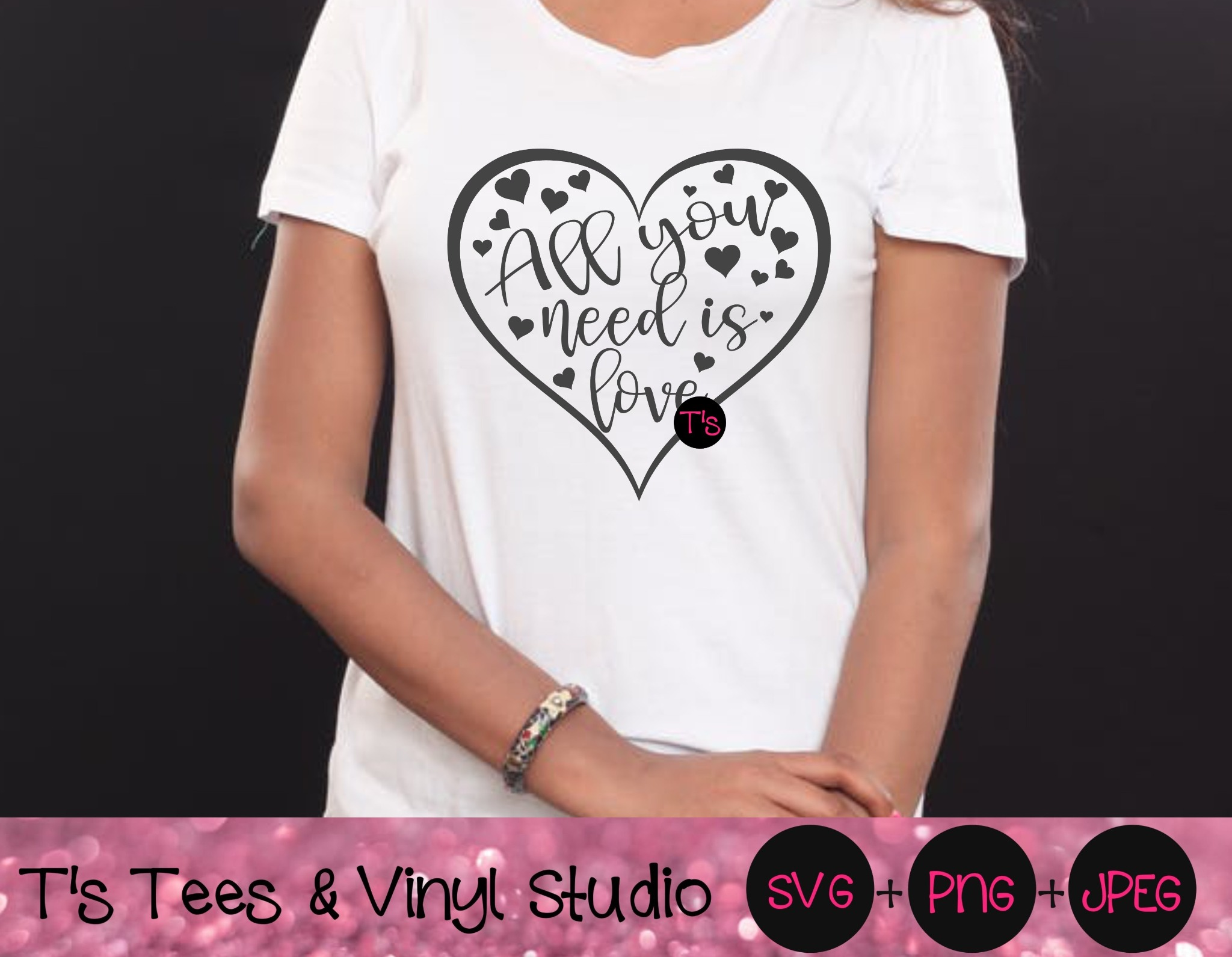 Love Svg, In Love Svg, All You Need Is Love, Love Conquers All, Engagement, Wedding, Hearts Svg, Lov