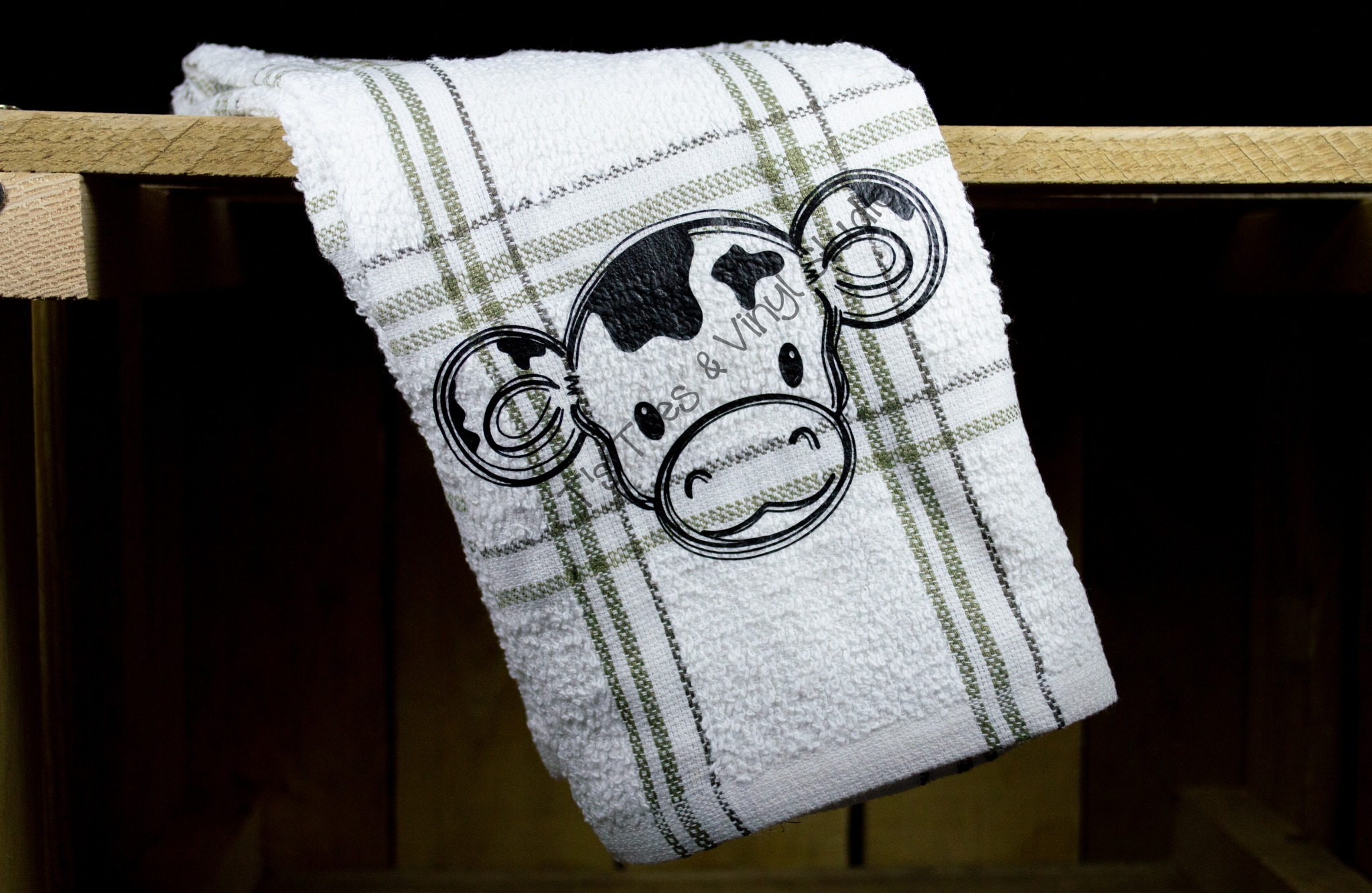 Cutest Cow EVER Kitchen Towel