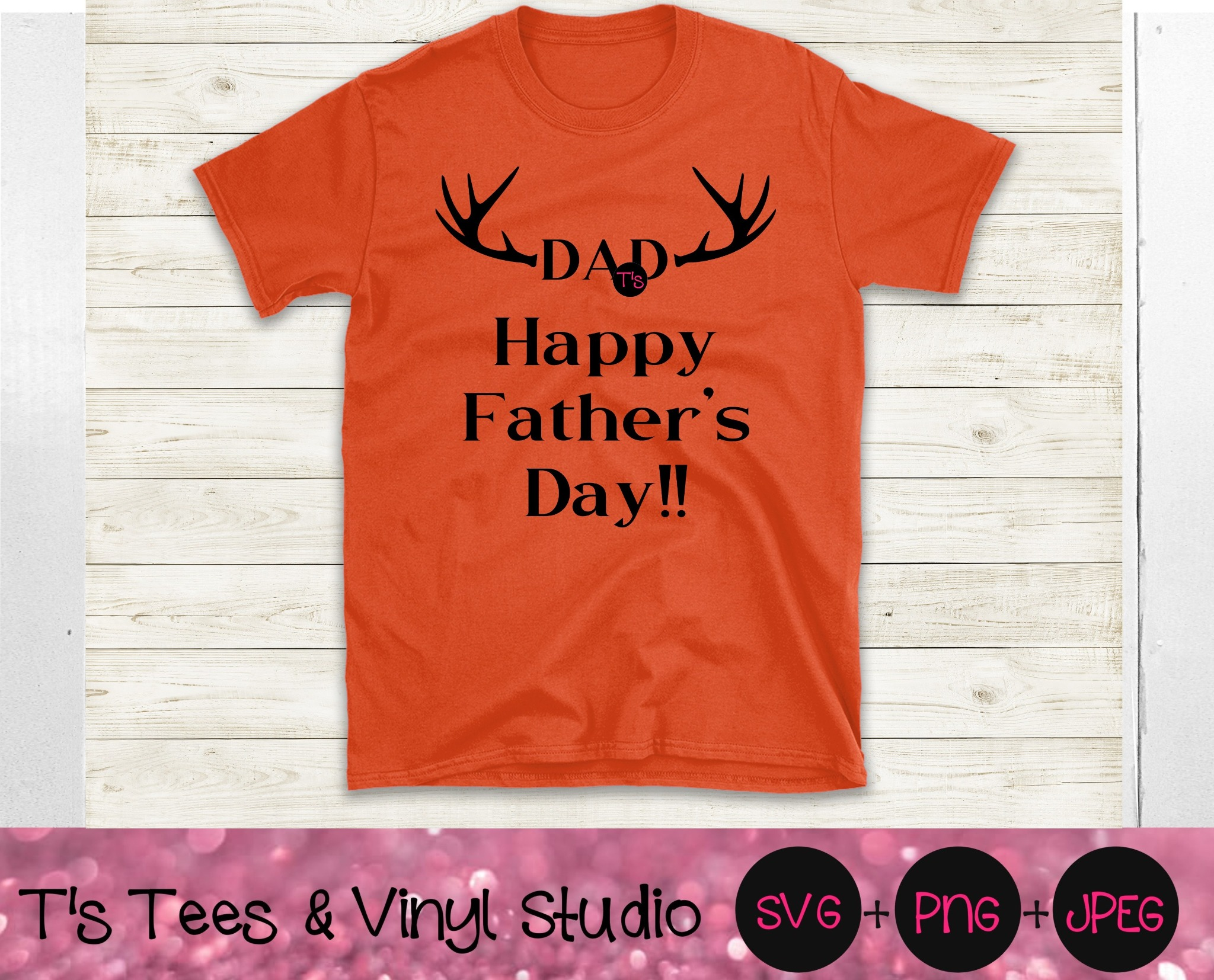 Dad Svg, Father's Day Svg, Happy Father's Day Svg, Antlers Svg, Best Dad Ever Svg, Best Dad Svg