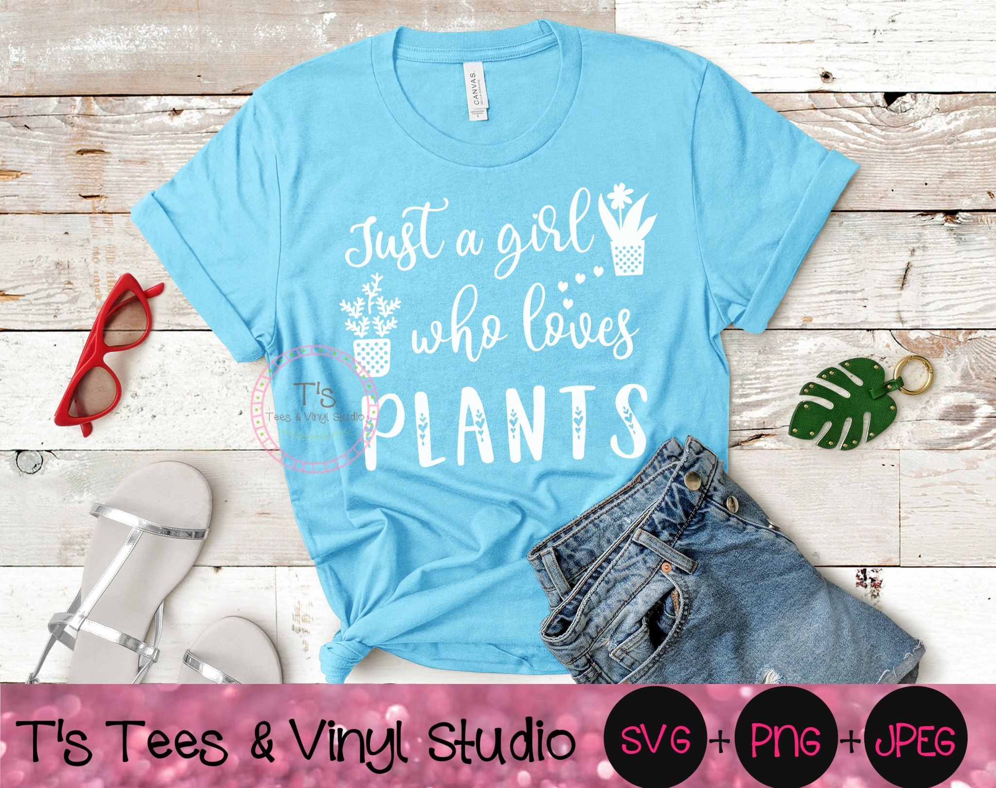 Just A Girl Who Loves Plants, Plants Svg, Plant Lover, Succulents, Flowers, Cactus Grower, Herb Farm