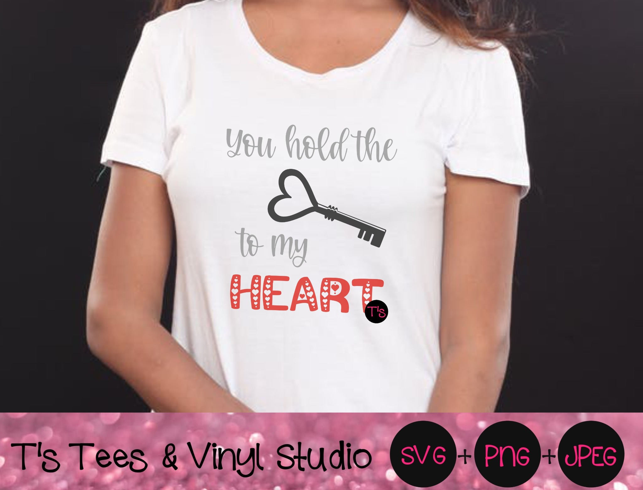 Heart SVG, Key Svg, You Hold The Key To My Heart Svg, Love Svg, In Love Svg, In Love PNG, Digital