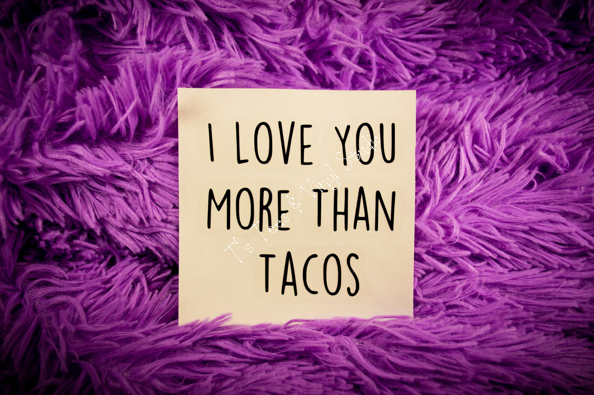 I Love You More Than Tacos Car Decal