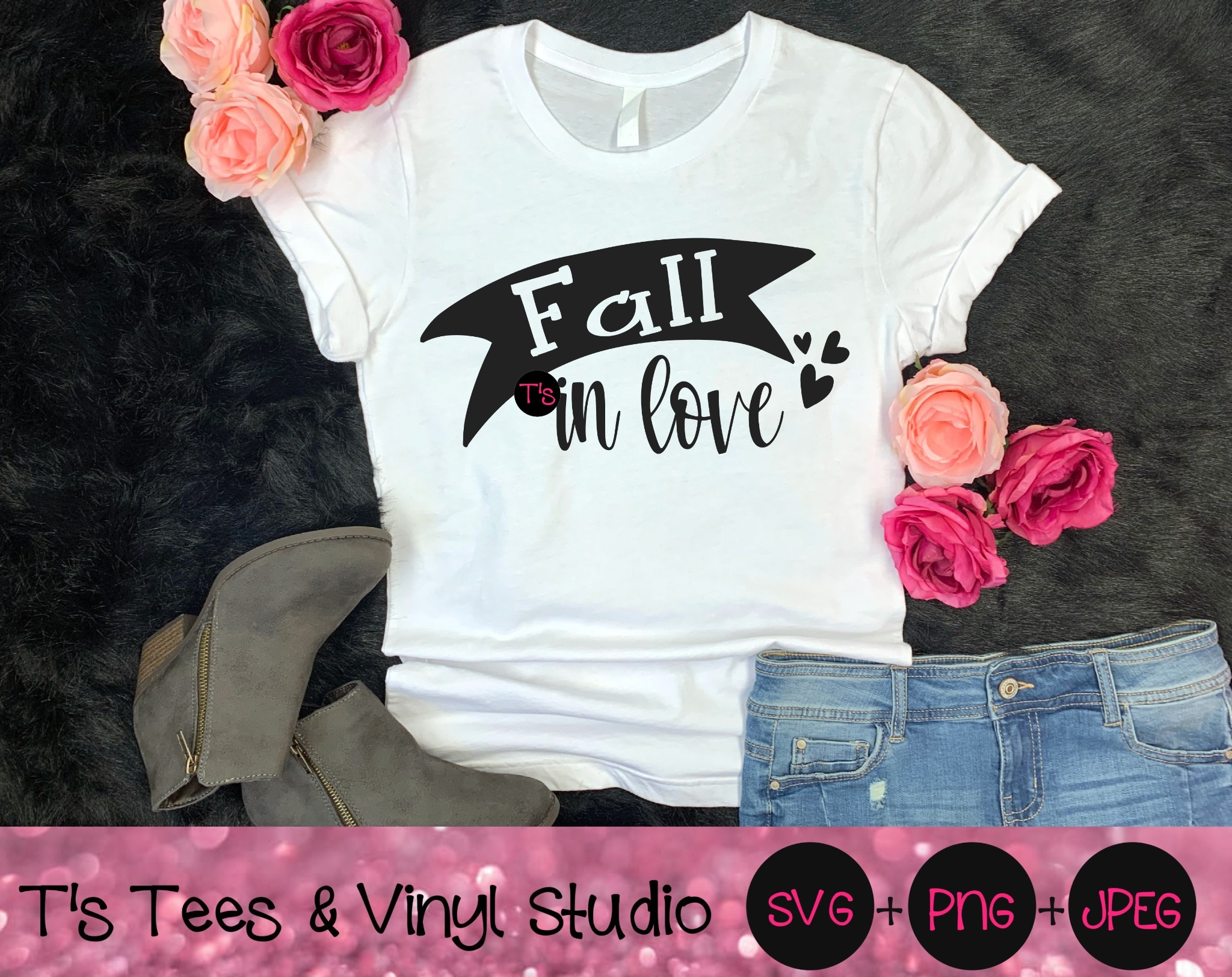 Fall In Love Svg, Lovers Svg, Autumn Svg, Season Svg, Hearts Svg, Fall In Love Png, Lovers Png, Autu