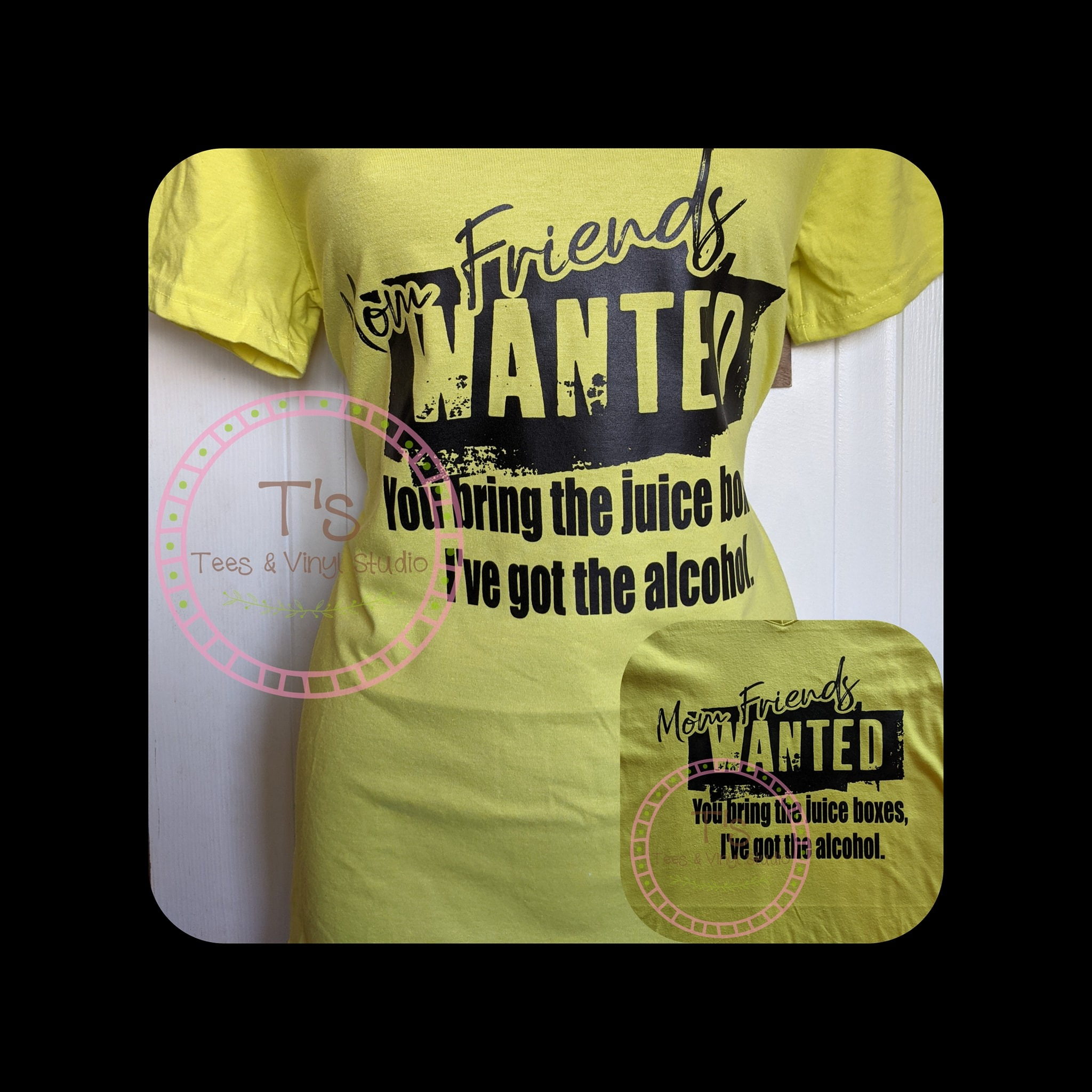 Small - Mom Friends Wanted T-Shirt