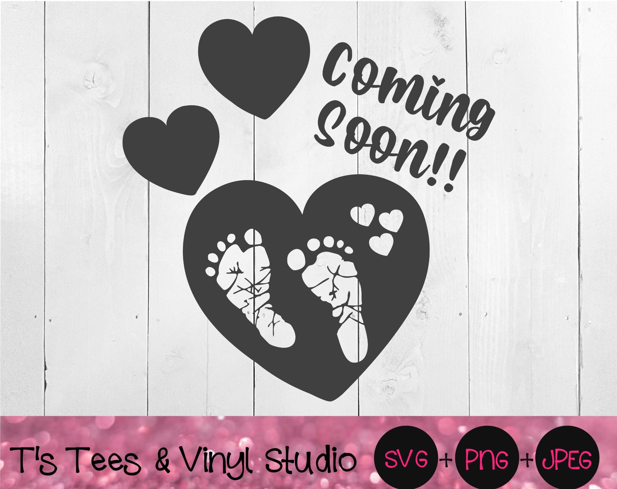 Baby Coming Soon, We're Having A Baby, Pregnancy Announcement, Footprints, Baby Feet,Pregnant Svg, F