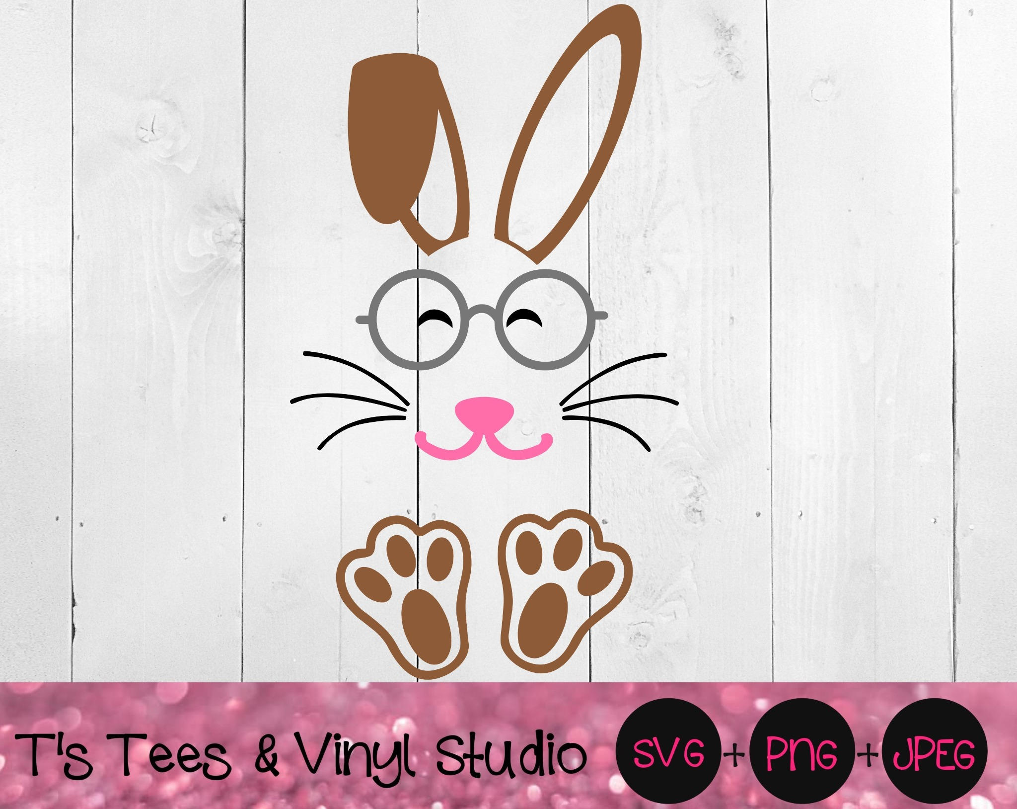 Bunny Svg, Easter Bunny Svg, Bunny With Glasses Svg, Glasses Svg, Rabbit Svg, Bunny Png, Easter