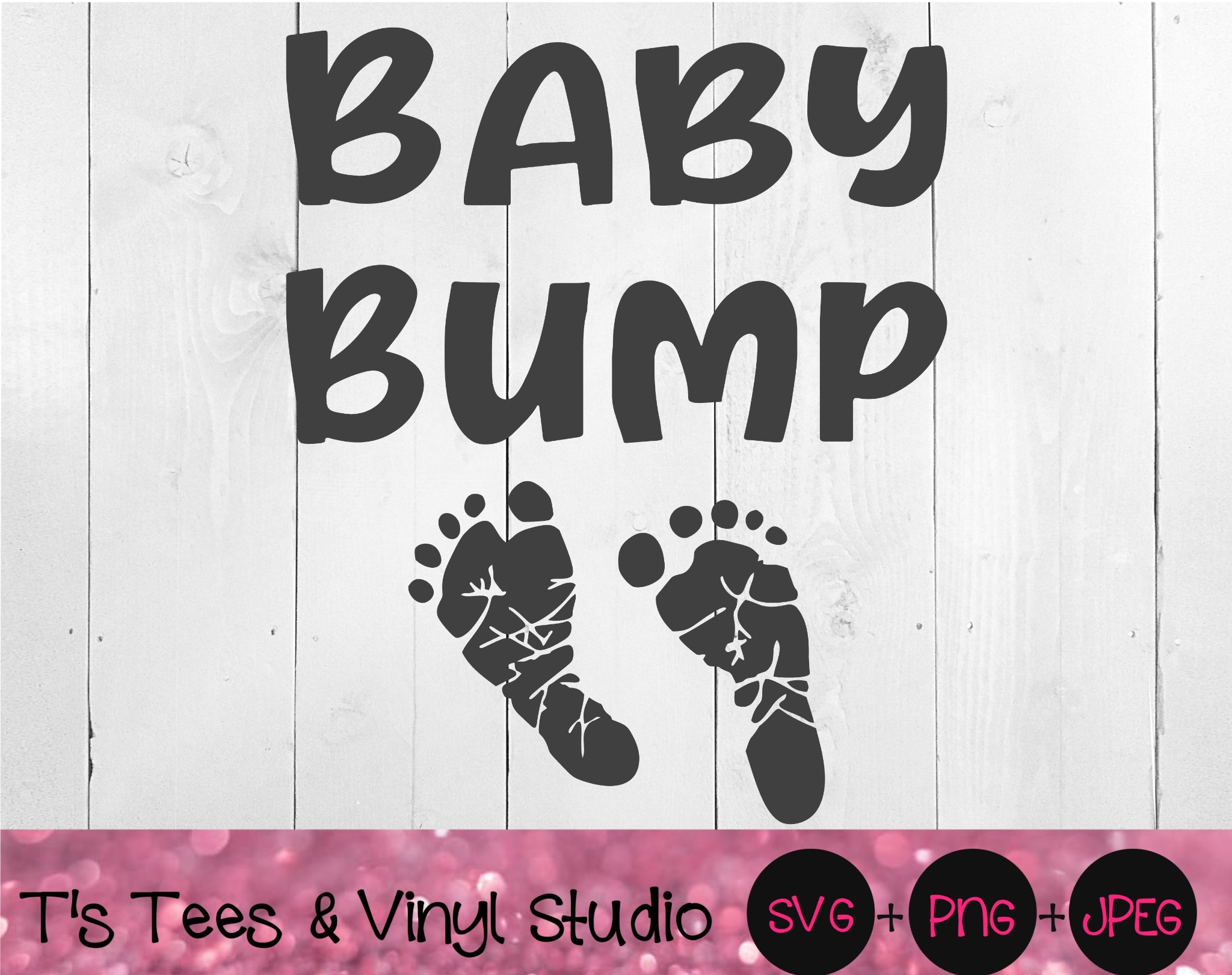 Baby Bump SVG, Pregnancy Announcement, Baby On Board, Baby Feet, Baby Toes, Footprints, Pregnant Bel