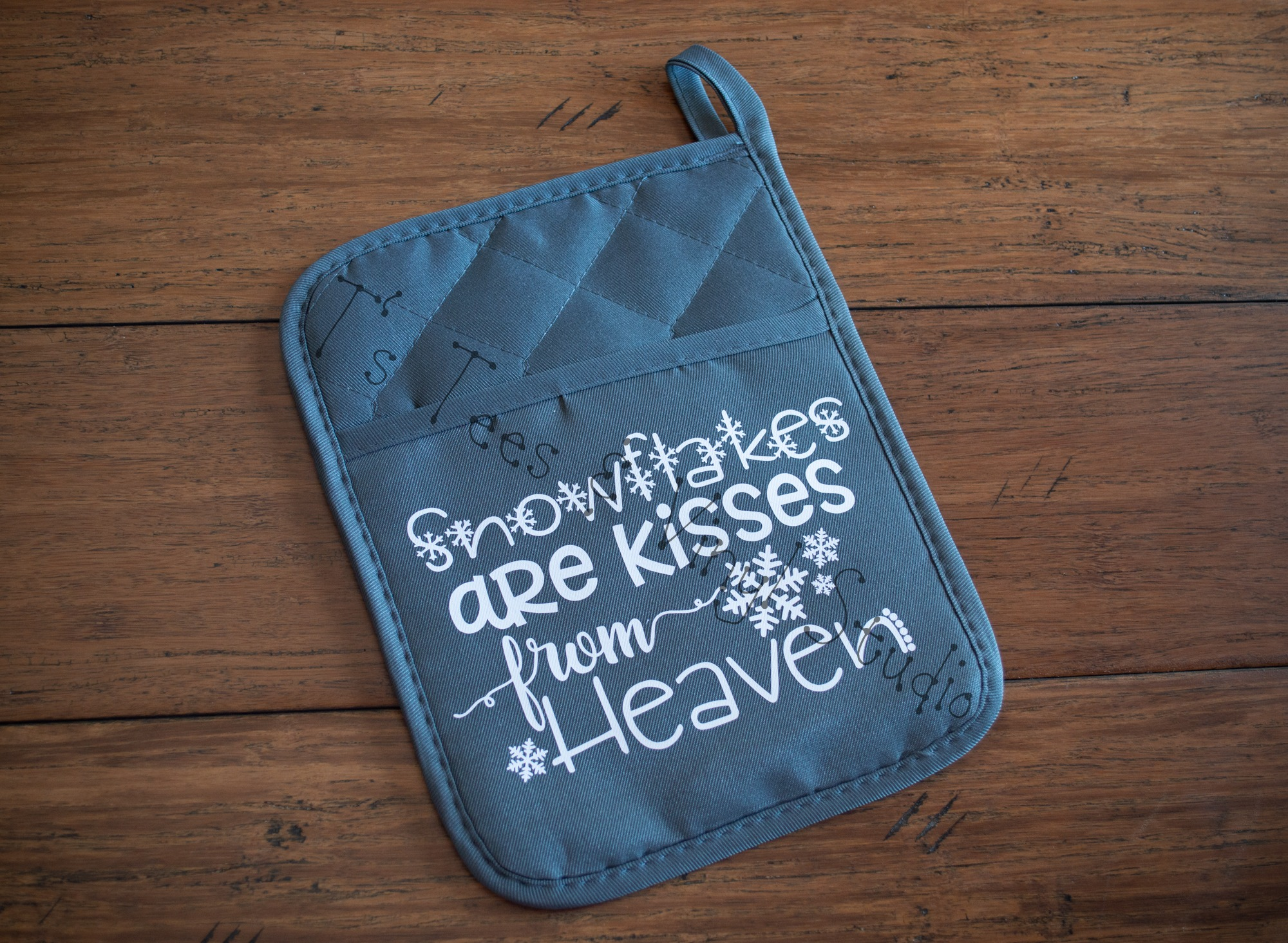 Snowflakes Are Kisses From Heaven Potholder