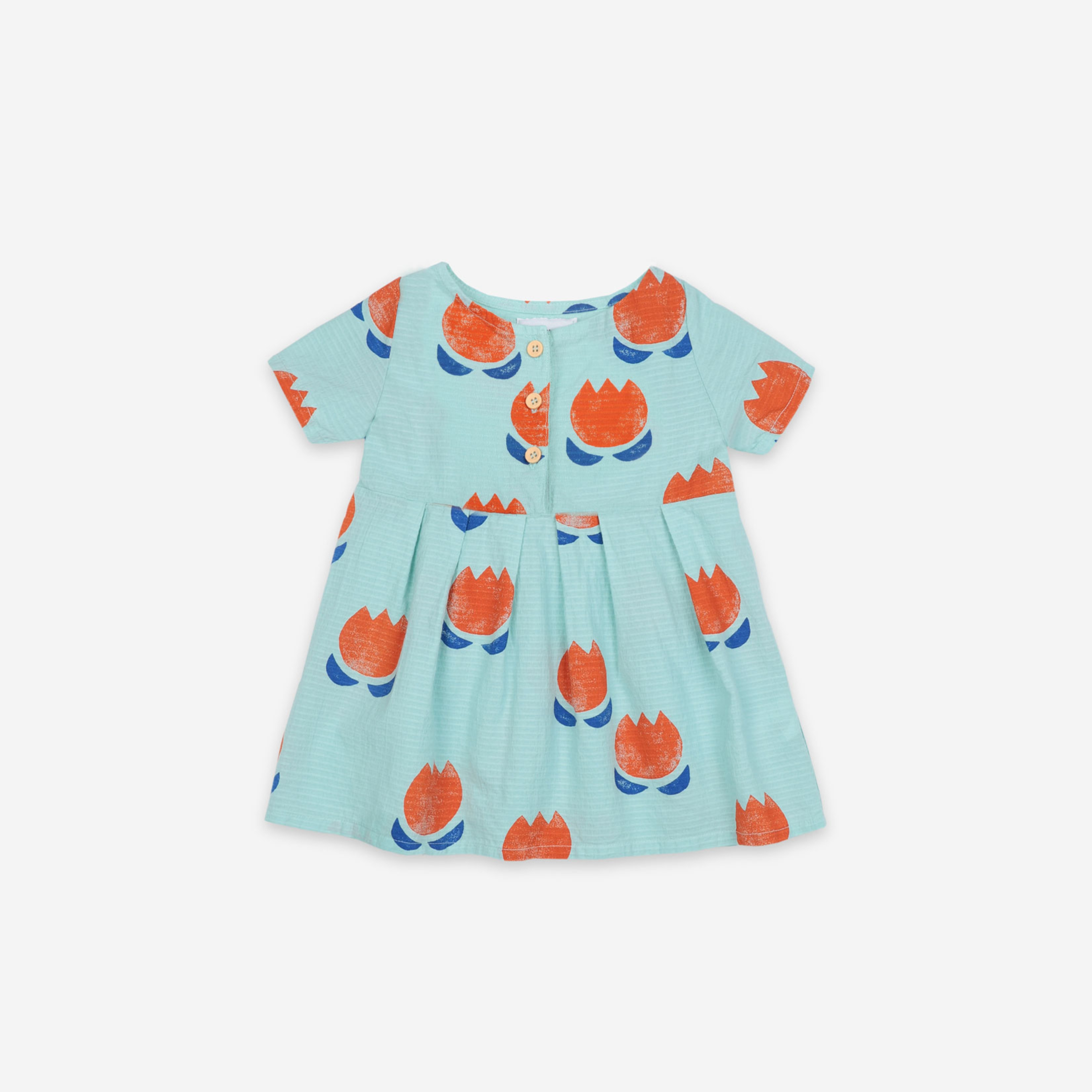 Bobo Choses - Chocolate Flowers All Over Buttoned Dress