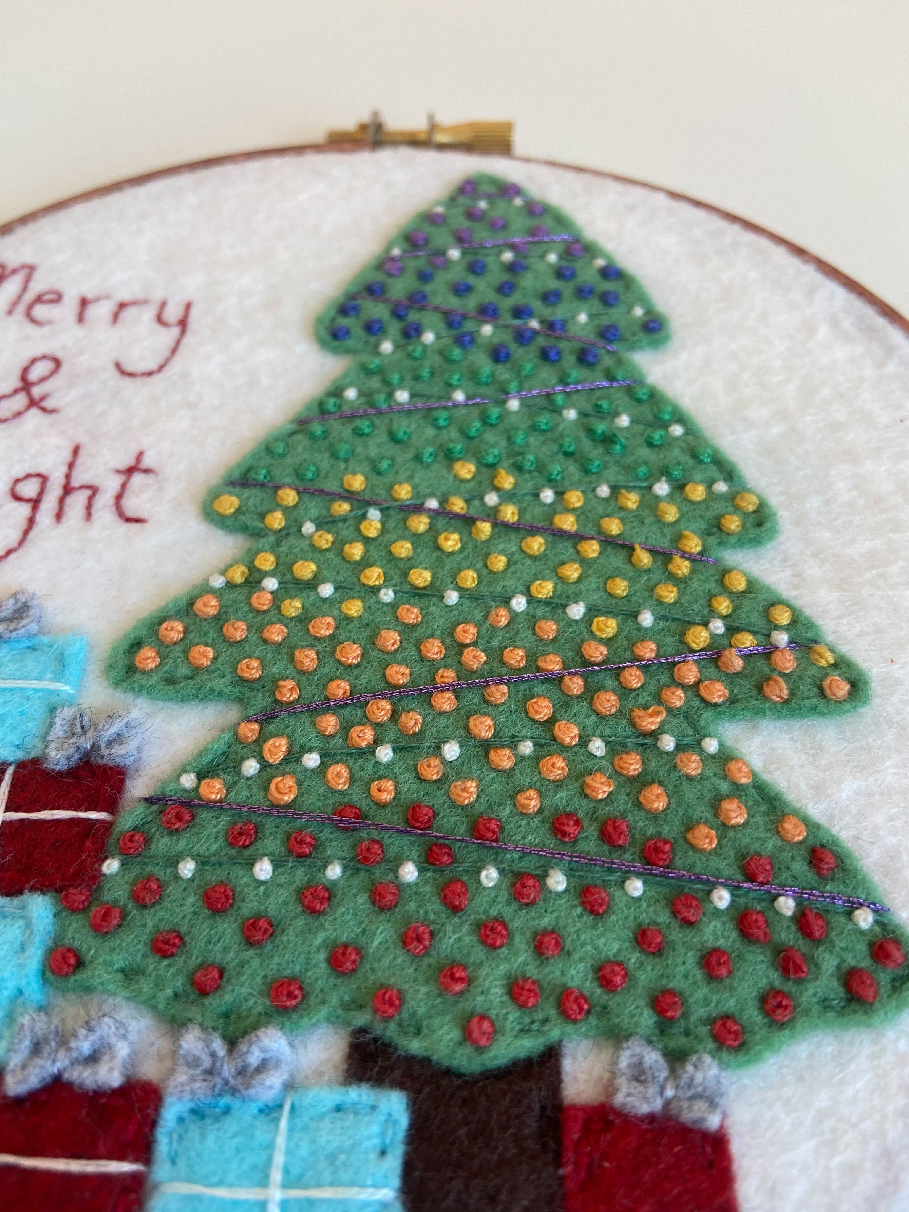 Merry and Bright hoop