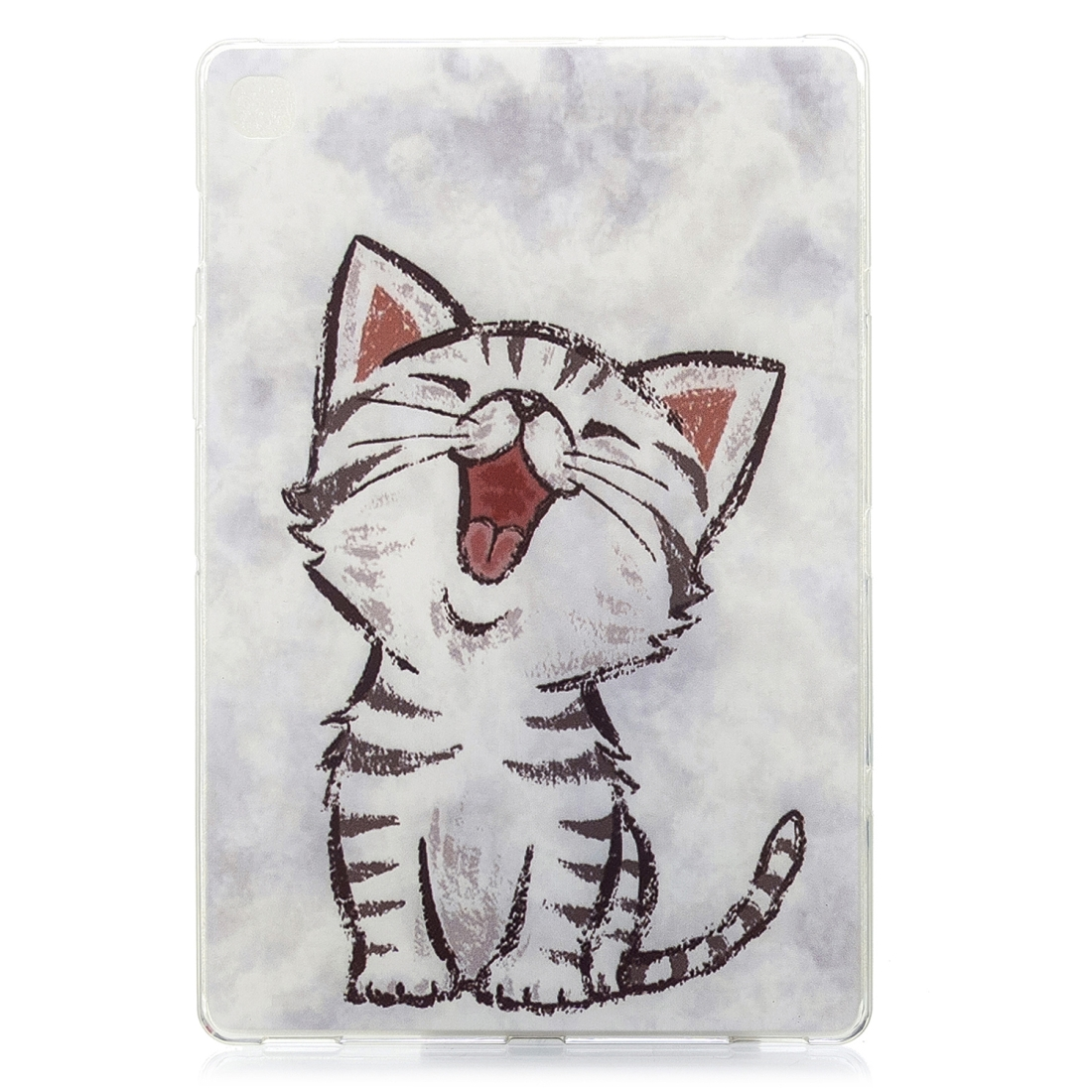 For Galaxy Tab S5e T720 Artistic Pattern Durable Case (Red Mouth Cat)