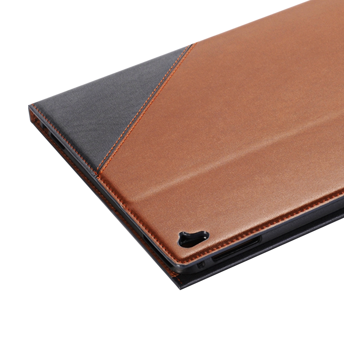 Book Style Leather iPad Air 2 Case (9.7 Inch), Slim Profile (Grey)