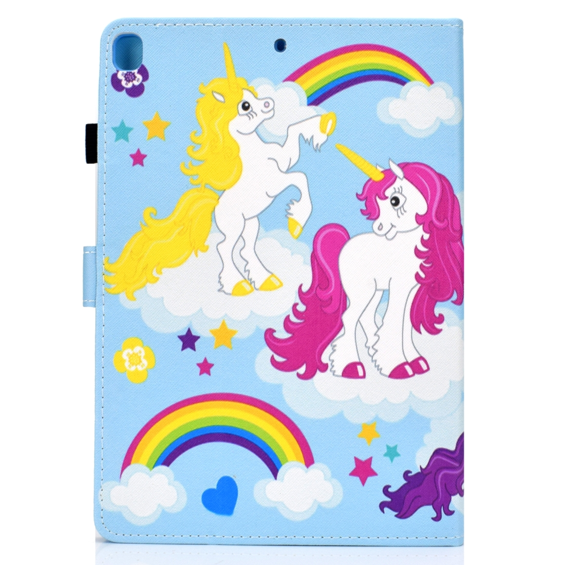 iPad 7th Generation Case (10.2 Inch) Leather With Sleeves, Pen Holder & Auto Sleep (Artsy Unicorn)