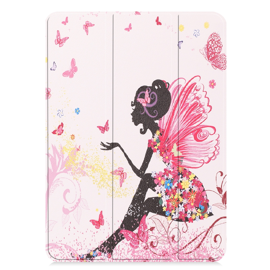 Butterfly Design Painted Leather iPad Pro 11 Case (2018), with Tri-Fold Wake/ Auto Sleep
