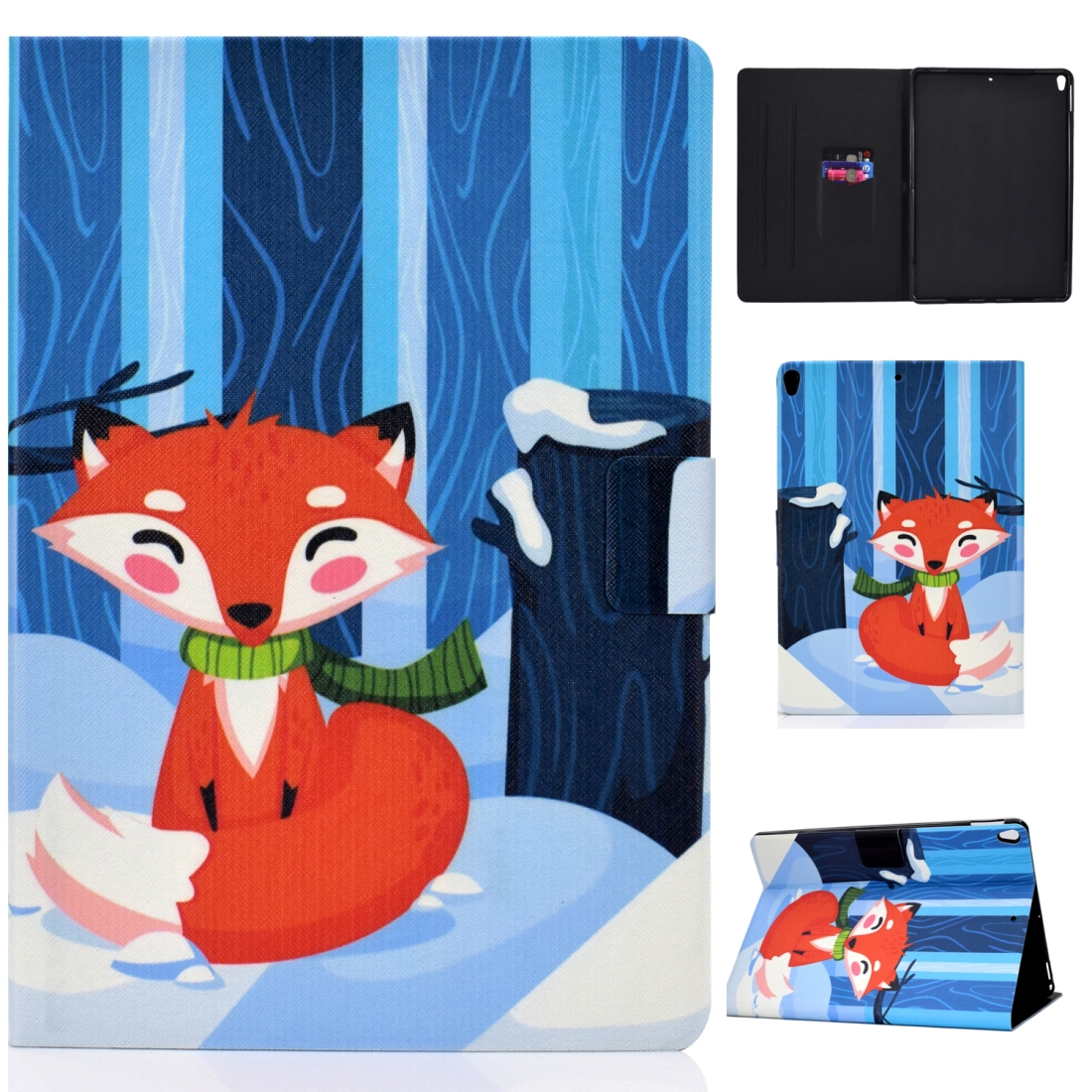 Artsy Protective iPad Air 3 Case (10.5 Inch), iPad Air (2019), Auto Sleep, Non-slip (Red Fox)
