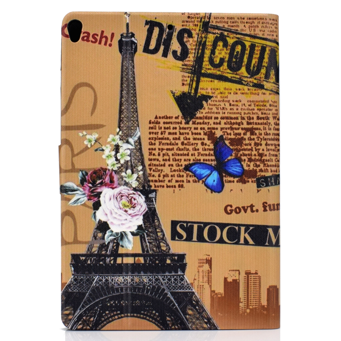 Artsy Protective iPad Air 3 Case (10.5 Inch), iPad Air (2019), Auto Sleep, Non-slip (Eiffel Tower)