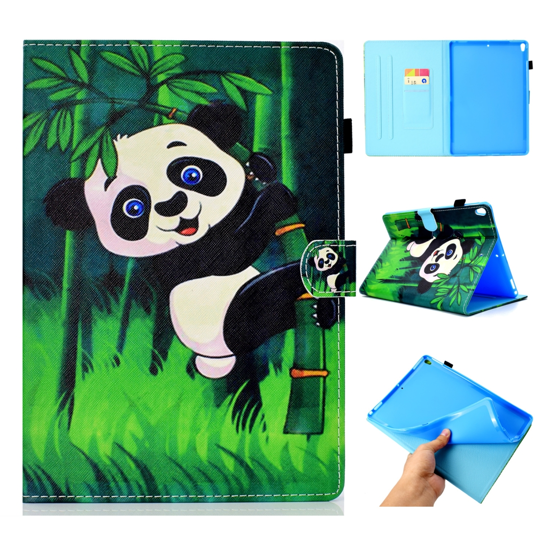 Artsy Leather iPad Air 3 Case (10.5 Inch) 2017/2019 Artsy Design & Auto Sleep Function (Panda)