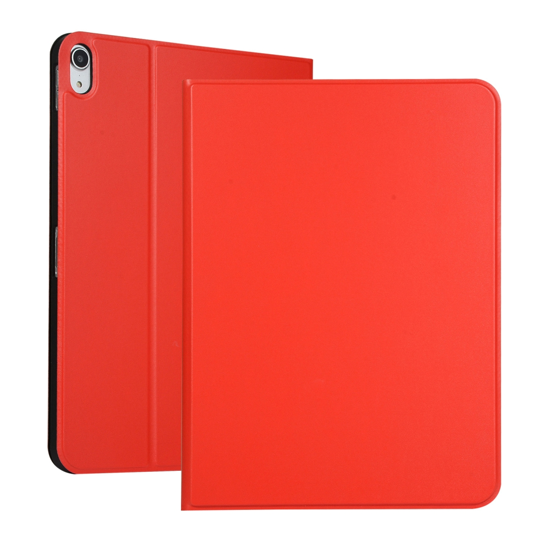 Elastic Leather iPad Pro 11 Case With Auto Sleep, Durable Soft Shell Bottom (Red)