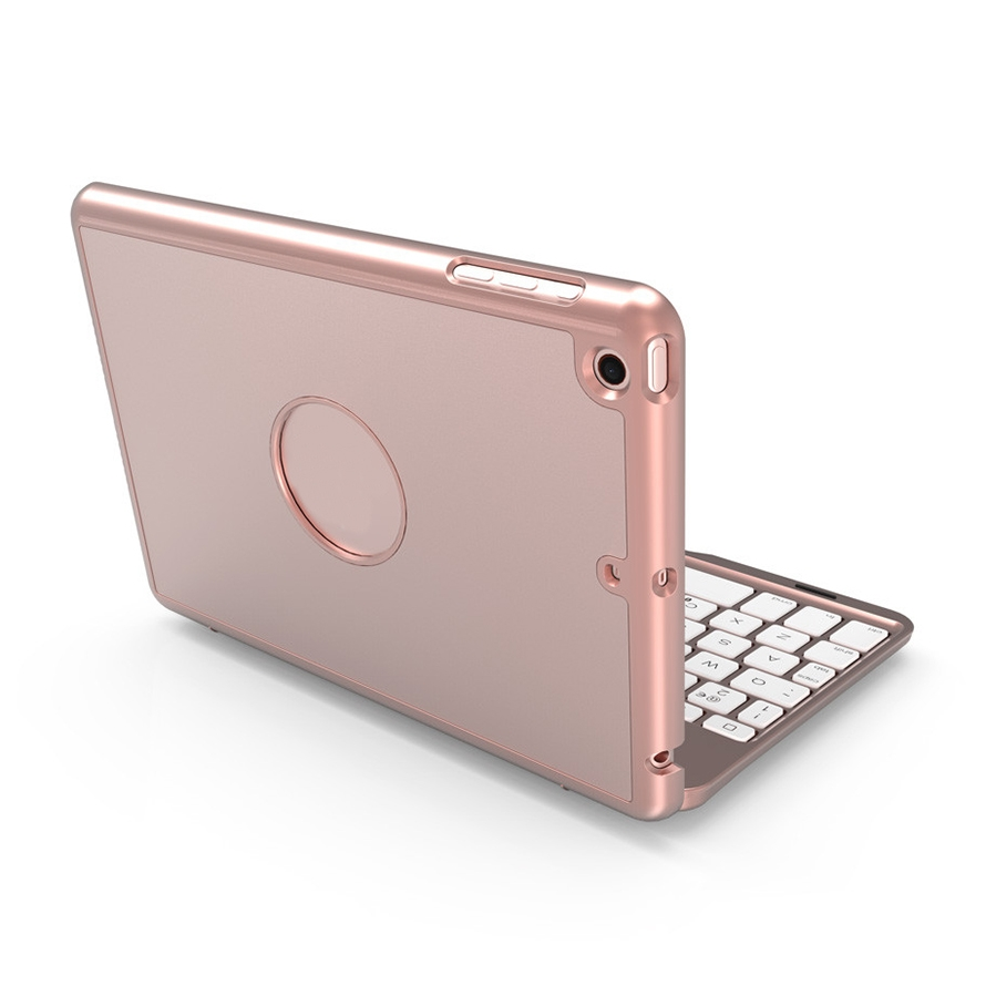 iPad Mini Case With Keyboard For iPad Mini 1,2 & 3, Protective Case With Bluetooth (Rose Gold)