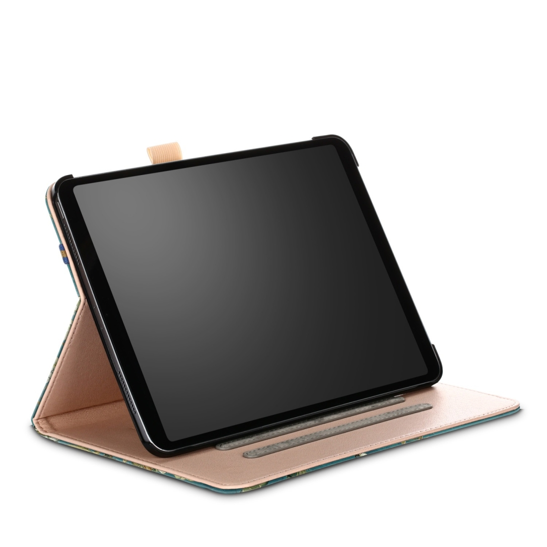 Apricot Flower Design Painted Leather iPad Pro 11 Case, with Auto Sleep
