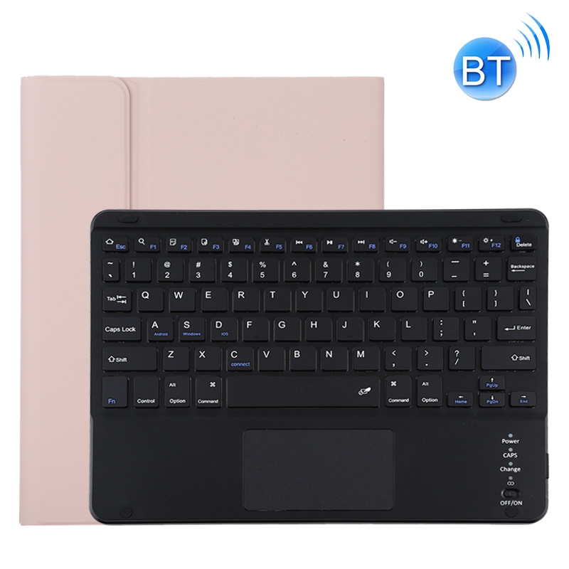 iPad Pro 11 Case With Keyboard (2020), With Leather Case & Detachable Keyboard (Pink)