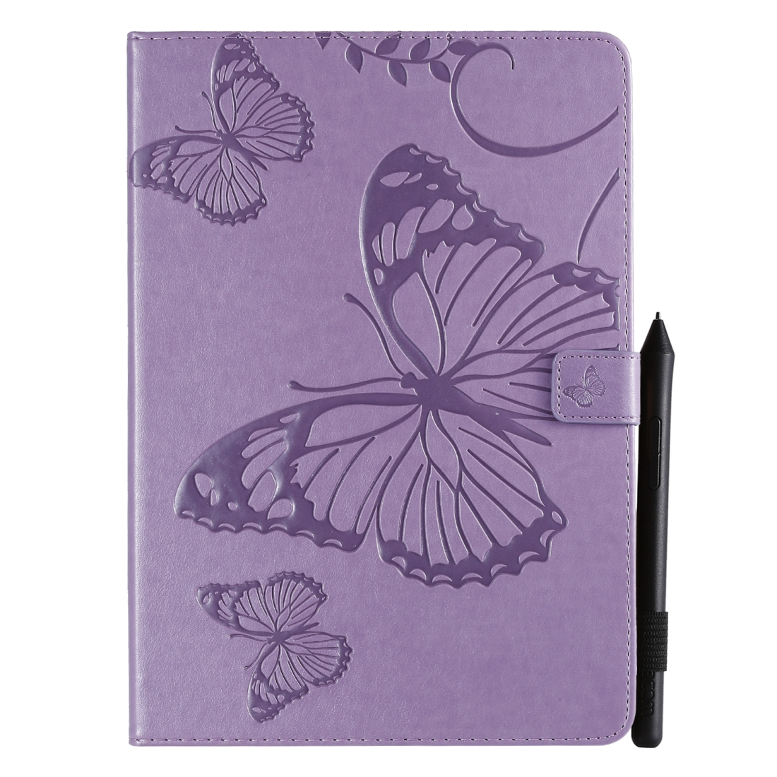 iPad 7th Generation Case (10.2 Inch) Also Fits /Pro 10.5/Air 2019 Leather Butterfly Design (Purple)