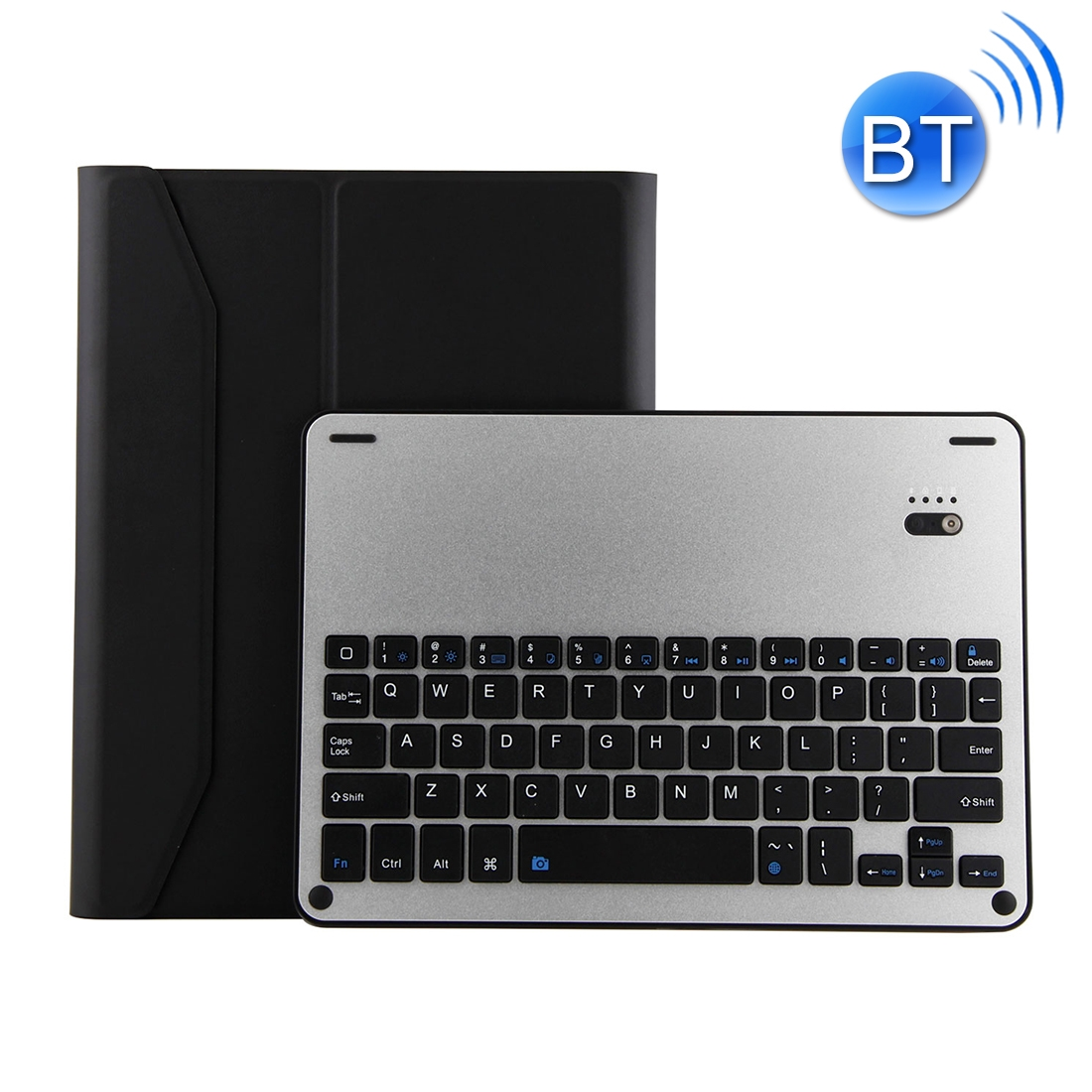 iPad Air 2 Case With Keyboard With Leather Case For iPad Air/Air 2/Pro 9.7 inch  (Black Silver)