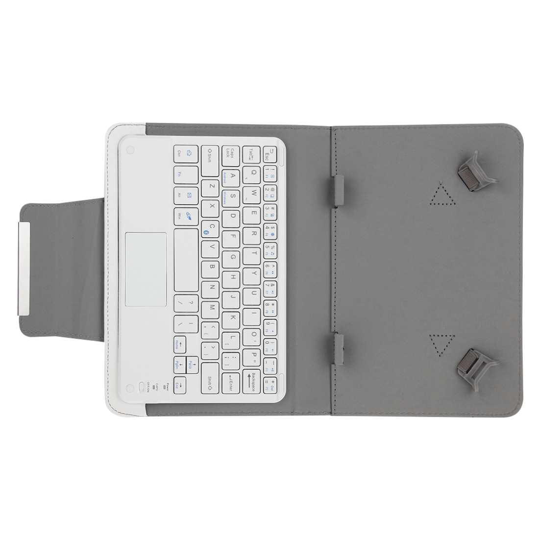 Wireless Bluetooth Keyboard For iPad, Compatible With 10.1 Inch iSO & Tablets (White)