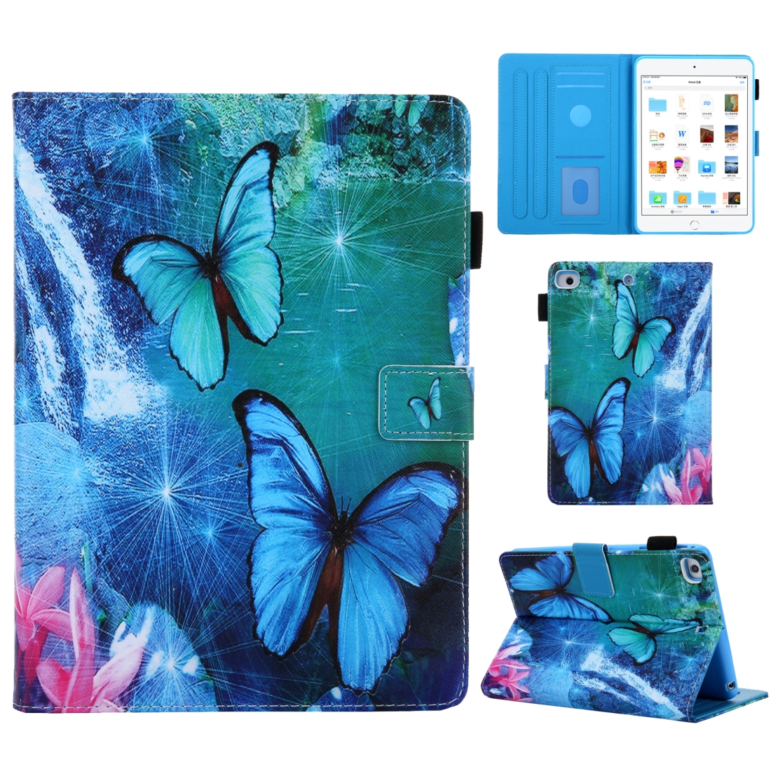3D Leather Case with Sleeve  iPad 10.5 Case (Waterfall Butterfly)