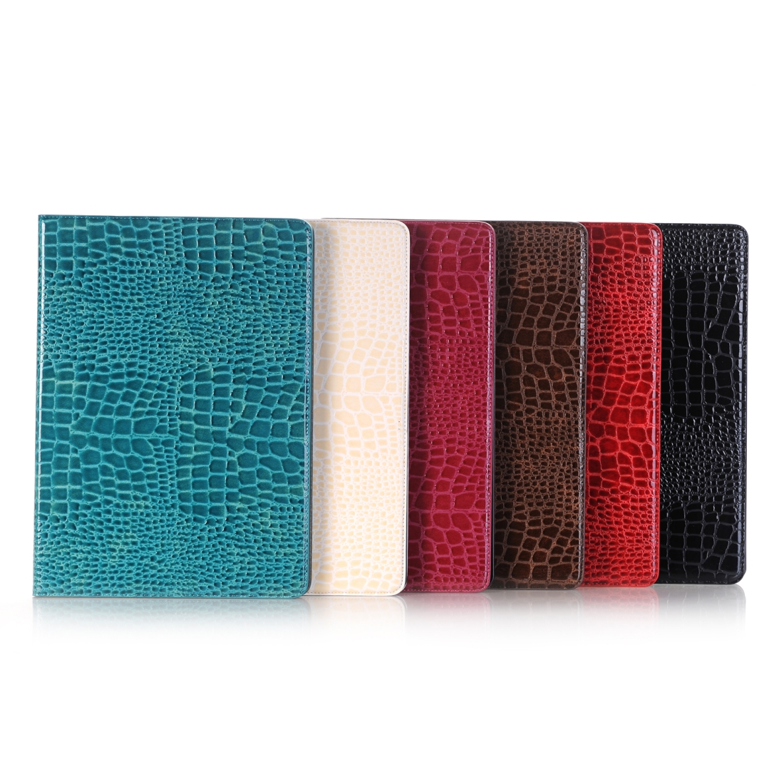 Crocodile Texture Leather Case, For iPad Air 2 Case With Slim Profile (Blue)