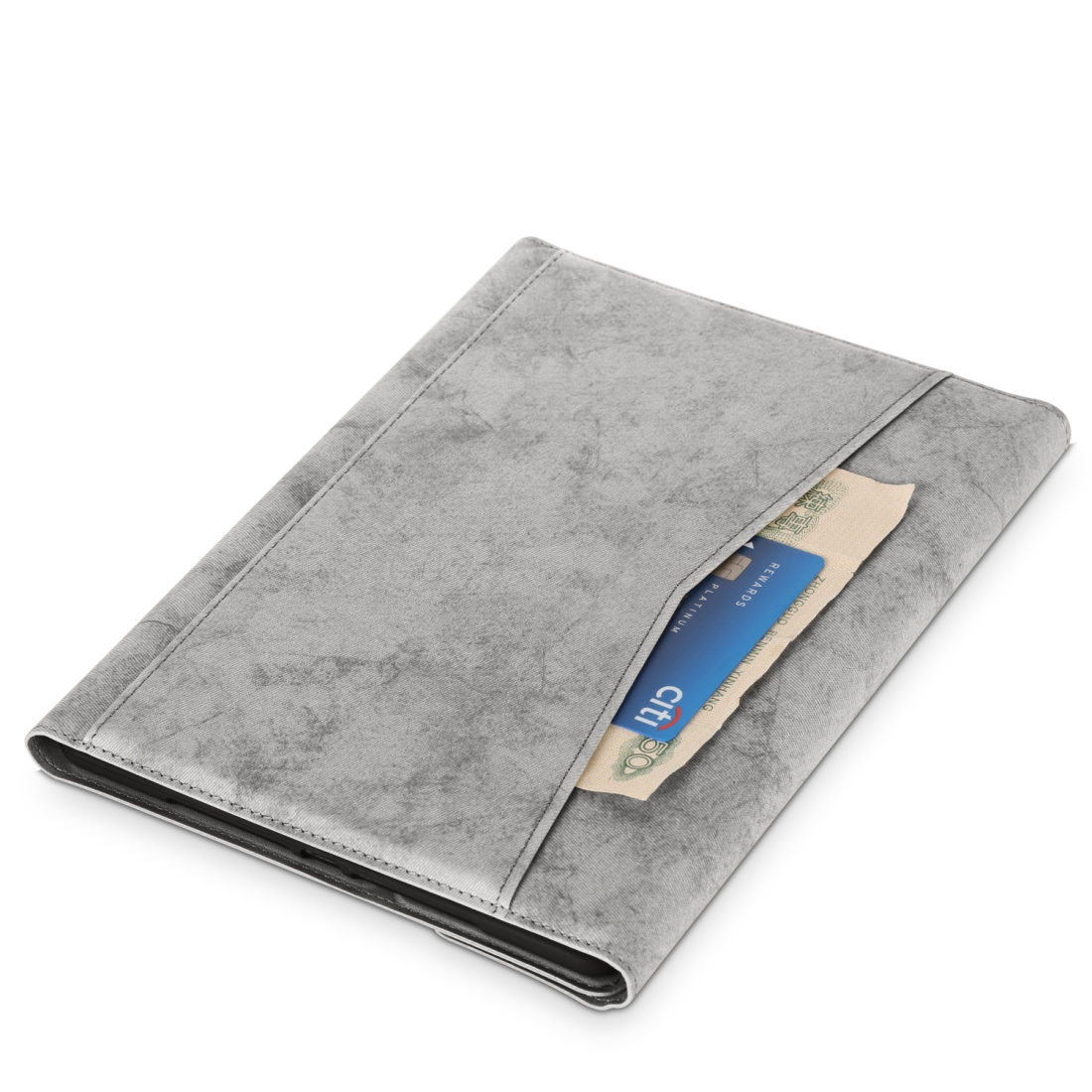 iPad Air 2 Case For iPad Air /Air 2 (2019), Leather Case Without Keyboard (Grey)