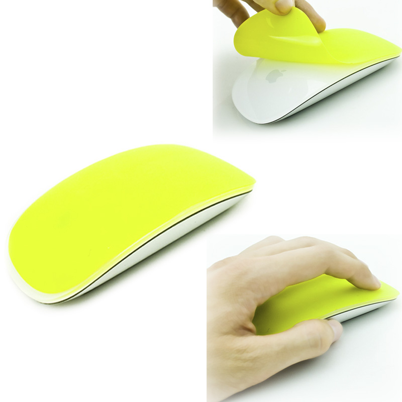 Silicone Soft Mouse Protector Cover Skin for MAC Apple Magic Mouse (Green)