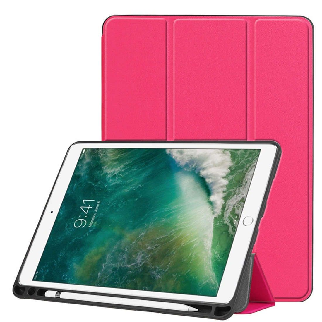 Custer Texture Leather iPad Air 3 Case (10.5 Inch)/ iPad Air (2019), with Pen Holder (Rose)