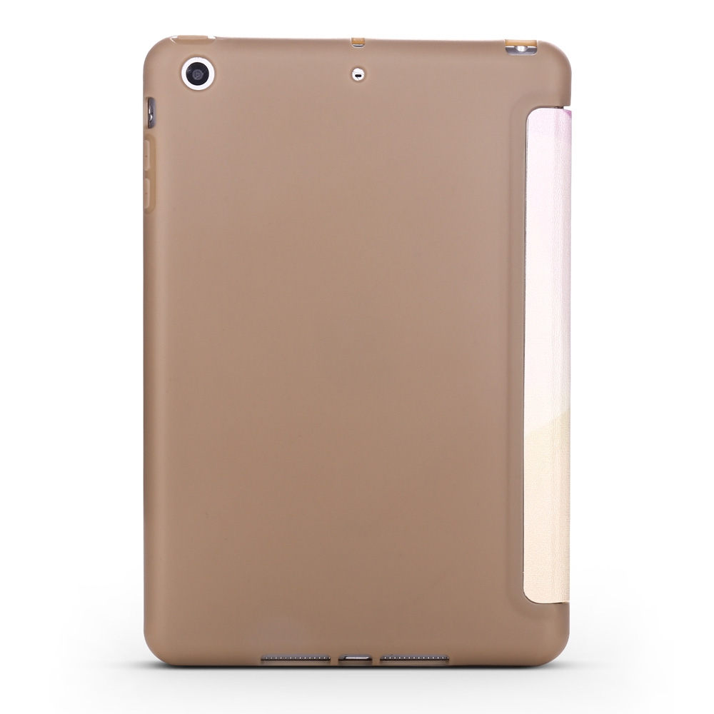Elephant Leather iPad Mini 4 Case, Also Fits iPad Mini 1,2,3, Tri-Fold Honeycomb Durable Cover