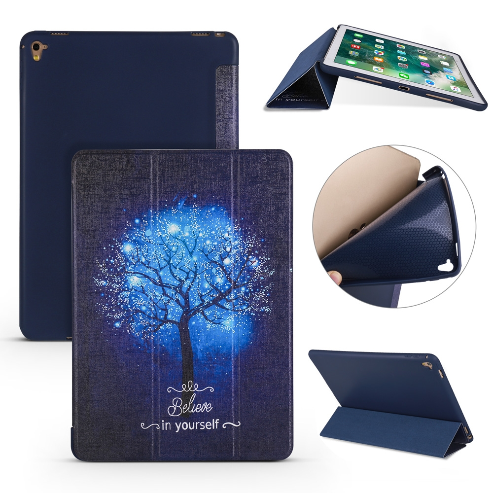 Blue Tree Leather iPad Air 2 Cover (9.7 Inch), with Tri-Fold Honeycomb Durable Cover