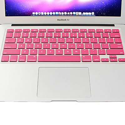 Macbook Air Keyboard Cover For MacBook Air 11.6 inch (US) / A1370 / A1465 Soft Silicone (Pink)