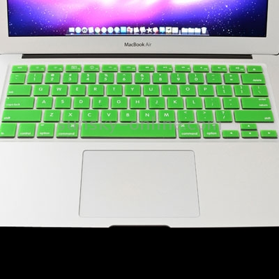 Macbook Air Keyboard Cover For MacBook Air 11.6 inch (US) / A1370 / A1465 Soft Silicone (Green)