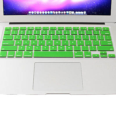Macbook Pro Keyboard Cover For Pro 13.3 / 15.4 / 17.3 inch (US) /A1278/ A1286/ Soft Silicone (Green)
