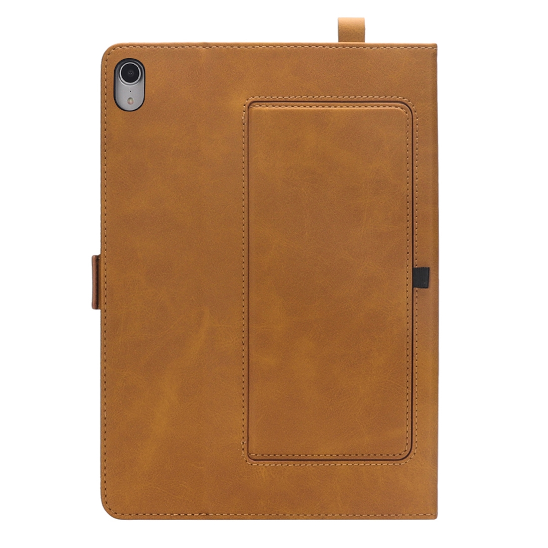 Bi-Stand Leather iPad Pro 12.9 Case (2018), w/Sleeves, Frame, Pen Holder (Light Brown)