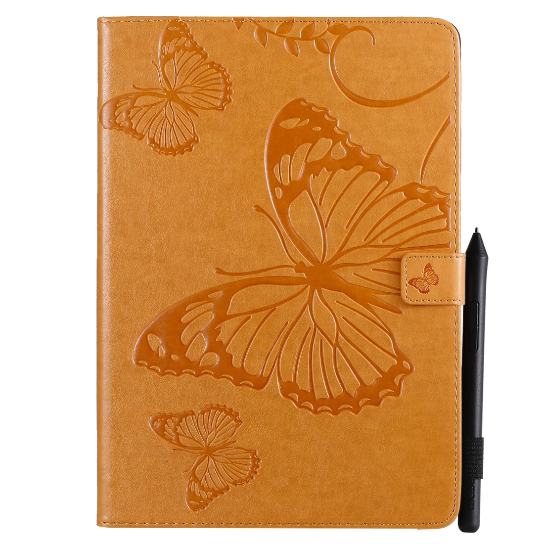iPad 7th Generation Case (10.2 Inch) Also Fits /Pro 10.5/Air 2019 Leather Butterfly Design (Yellow)