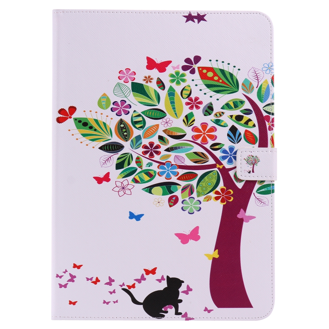iPad 5th Generation Case Fits iPad 5 & 6, Leather With Slim Profile & Auto Sleep (Cat and Tree)