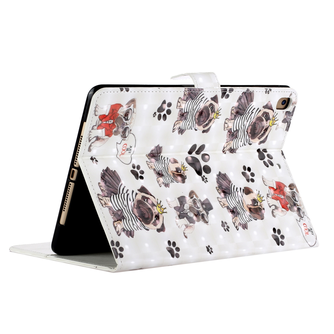Leather iPad Air Case Also Fits Air 2, iPad 9.7 (2017), iPad 9.7 (2018), Auto Sleep (Dog)