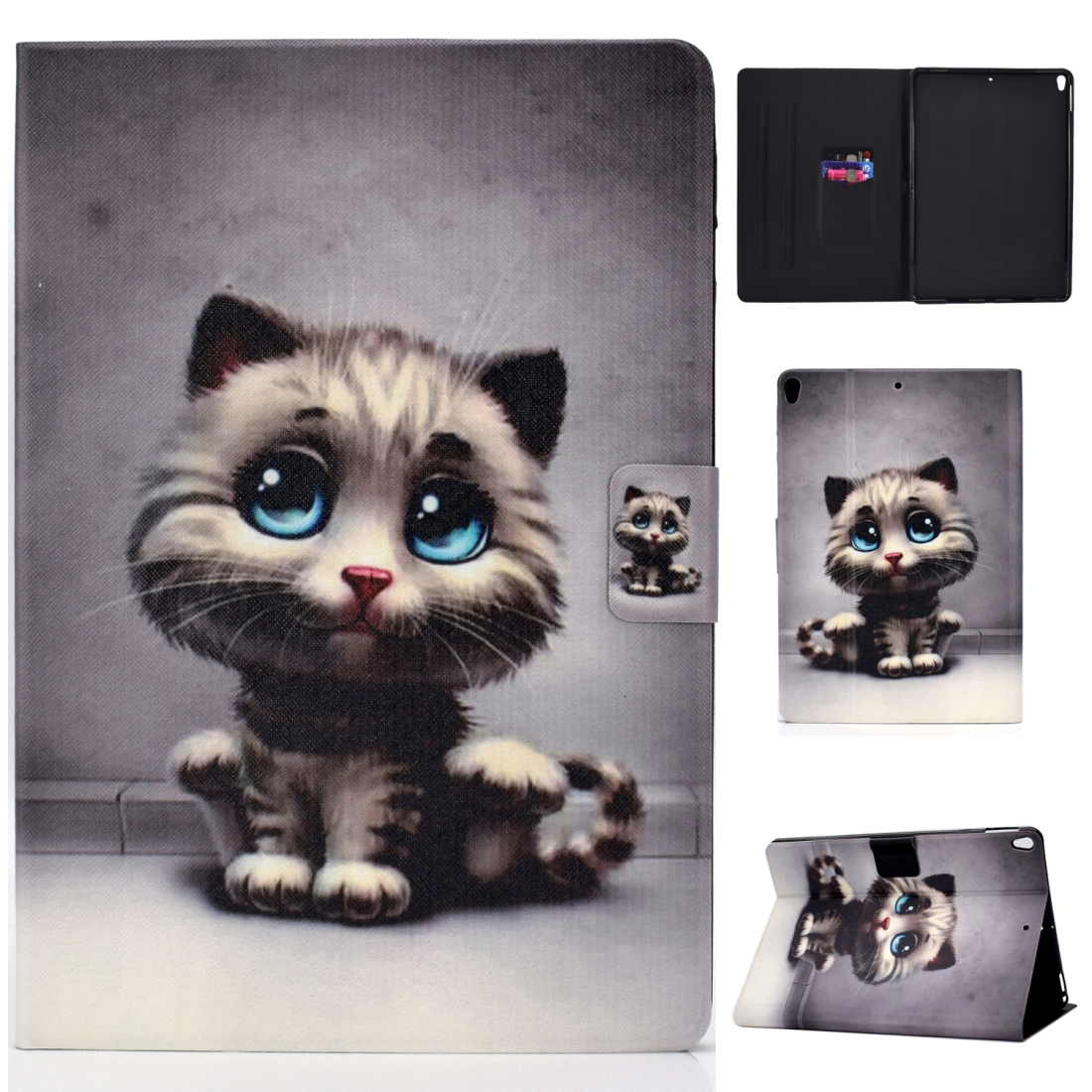 Artsy Protective iPad Air 3 Case (10.5 Inch), iPad Air (2019), Auto Sleep, Non-slip (Cat)
